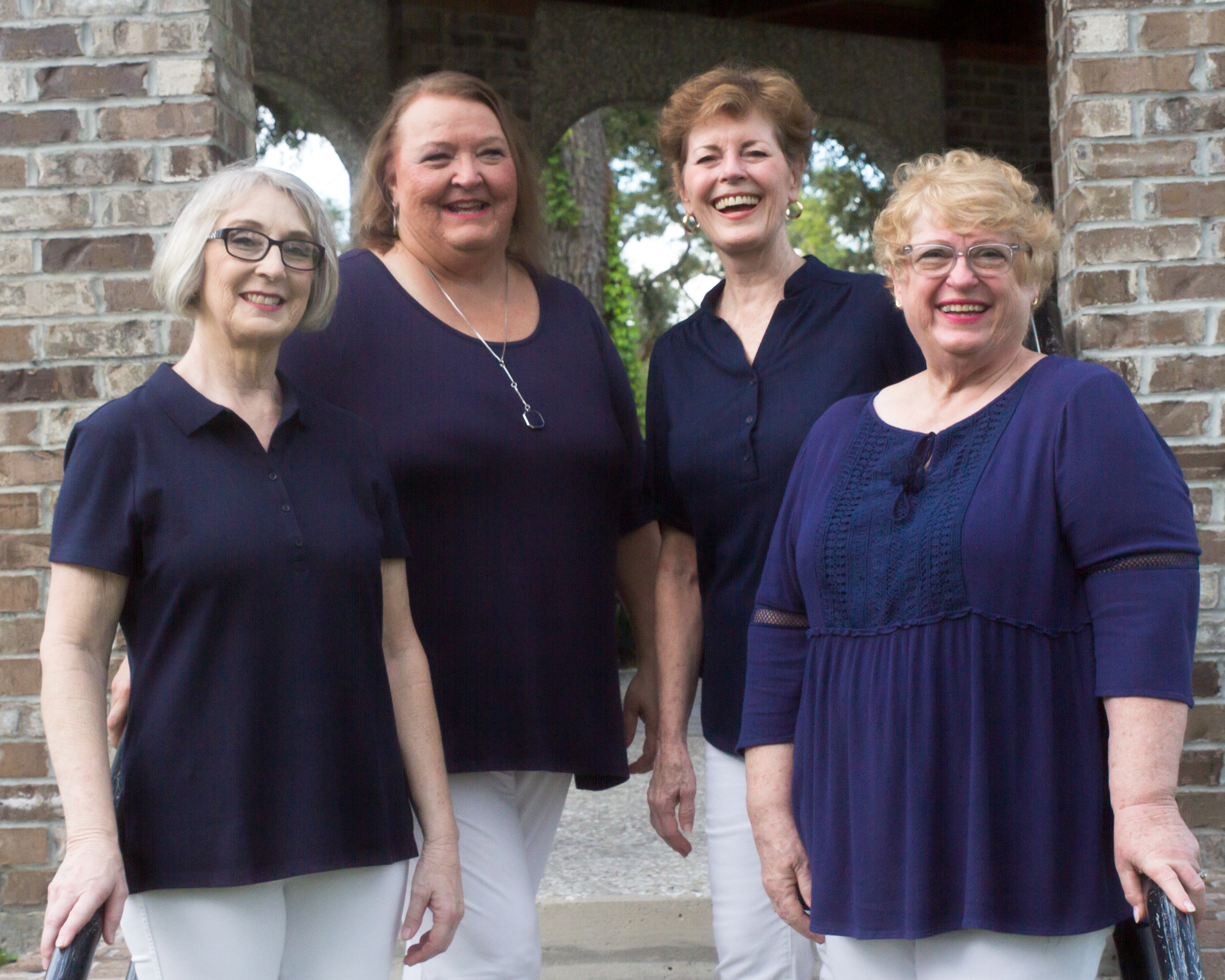 4Ever Friends with Lead Sharon Norris, Bari Sharon McInnis, Bass Kathy Edwards, and Tenor Nancy Everitt,sing togehter for the sheer joy of makeing music with dear friends.  Singing in an a cappella quartet is a unique, wonderful experience and keeps each of us reaching for our absolute musical best.  A quartet like 4Ever Friends spends countless hours together, singing, laughing, learning new music, learning about each other, all in a